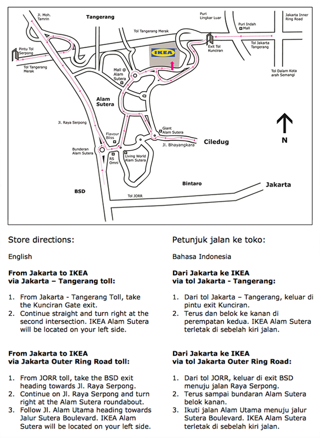 Ikea indonesia tour video elle and jess bloglovin map and directions ccuart Images