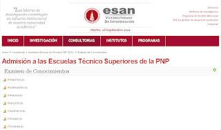 Resultados ETS PNP 2014 Lima Ingresantes 5 de Octubre