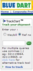 blue dart track dart