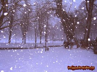 yuki atau hujan salju di jepang