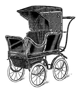 stock baby carriage illustration