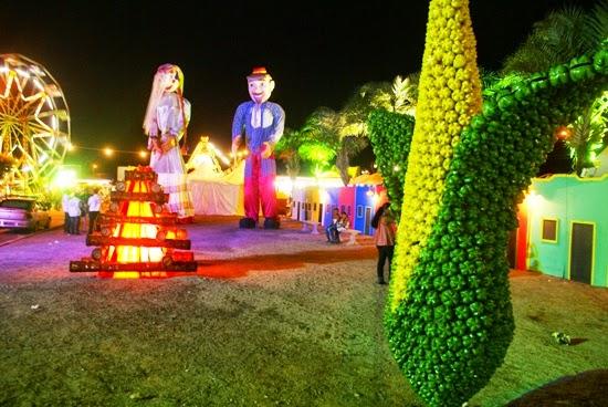 Decoraç u00e3o de festa junina com garrafas PET Artesanatos Reciclagem -> Decoração De Balões Festa Junina