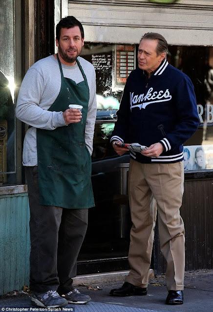 Adam SSandler y Steve Buscemi The Cobbler set (13 de noviembre, 2013; NY)
