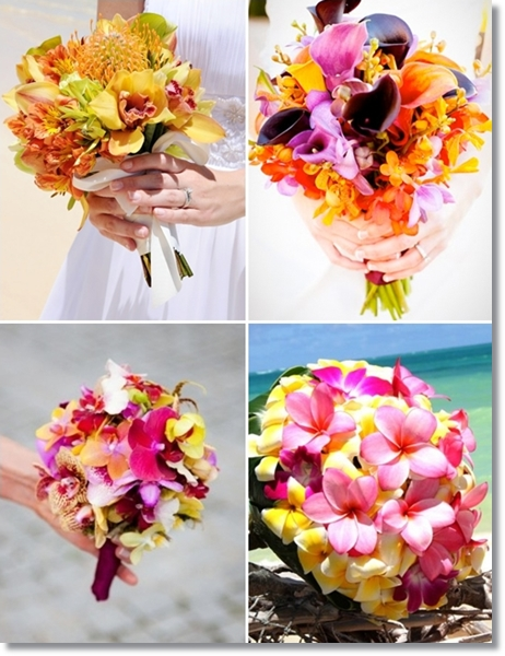 tropisk brudbukett, exotisk brudbukett, brudbukett hawaii, tropical bridal bouquet, tropical wedding bouquet, exotic bridal bouquet, exotic wedding bouquet, wedding bouquet hawaii, brudbukett starka färger