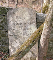 Grave of Nancy Reeves Handly at Old Beans Creek Cemetery