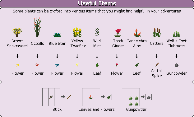 Plant Mega Pack Mod useful items