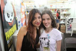 Eu e a linda e talentosa Lu Cafaggi