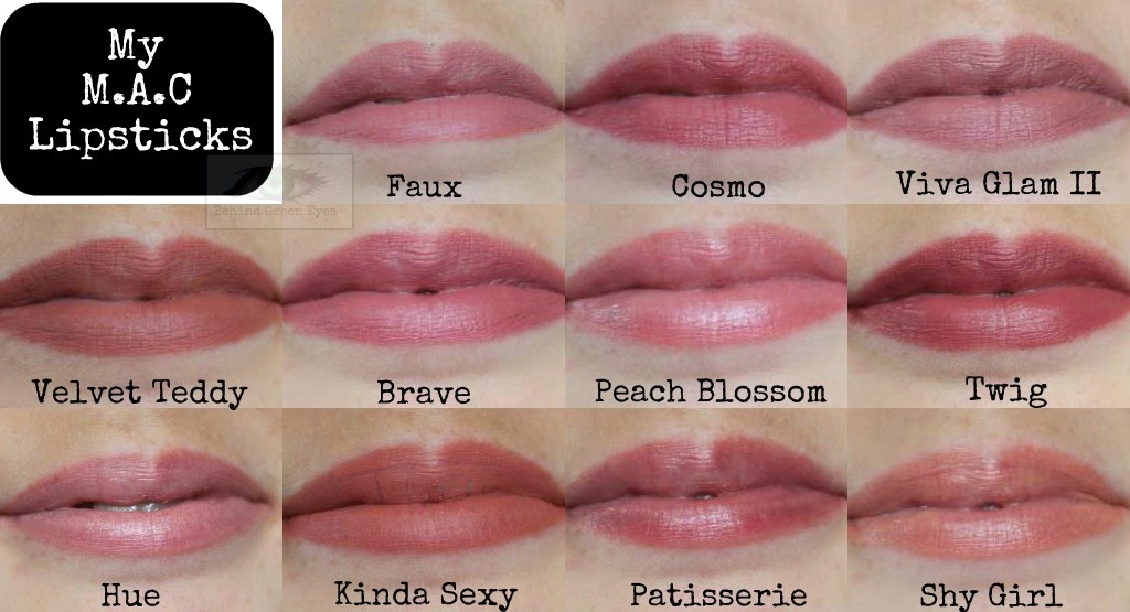 Behind Green Eyes: My MAC Lipstick Collection - 11 Shades of Nude