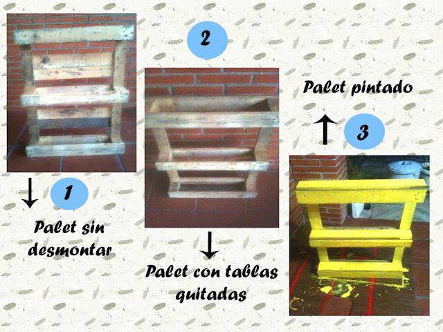 Pasos para reciclar un mueble con palets para decorar el jardín o terraza
