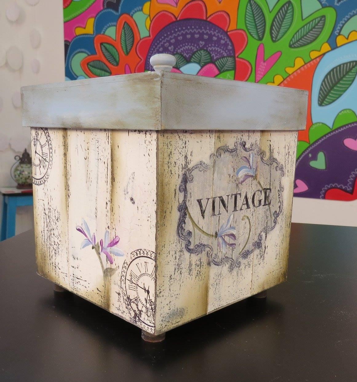 Como decorar cajas de madera estilo vintage transportes de paneles de madera - Cajas de madera para decorar ...
