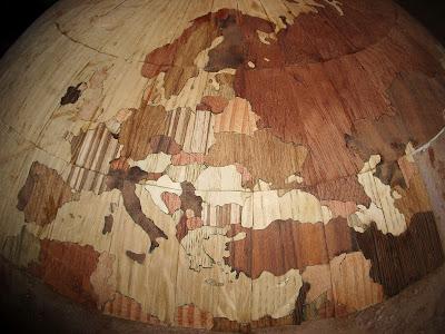 Wooden Globe, Europe