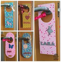 colgador de puerta infantil