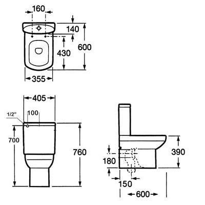 Modecor toilet suites roca dama senso wall faced toilet suite - Roca dama senso ...