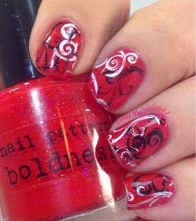 Red Coat Tuesday for Pretty Little Liars Nail Designs