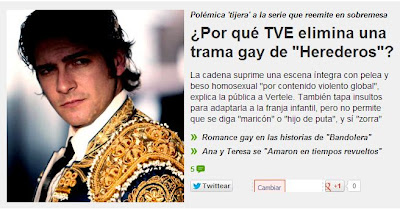 TVE censura la trama gay de la serie Herederos