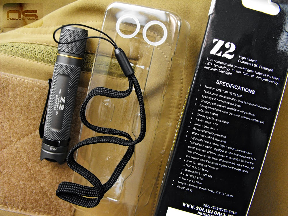 overview of the solarforce z2 AA powered flashlight