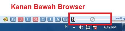 penampilan option show taskbar