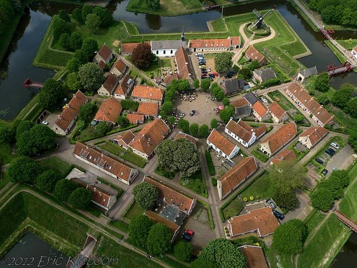 Star Shaped Fort Bourtange in Netherlands