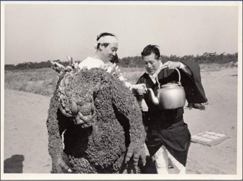 Haruo Nakajima y Katsumi Tezuka, los actores de traje de Godzilla