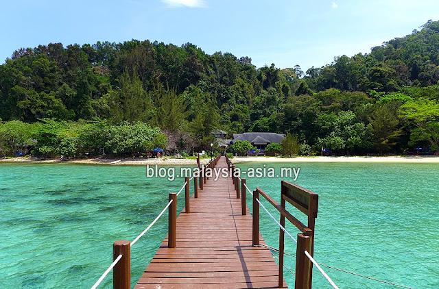 Padang Point Jetty on Gaya Island