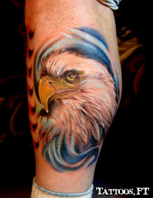 fotos de tatuagens de Aguia na Perna