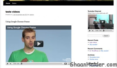 Embed YouTube Video Channel Feed