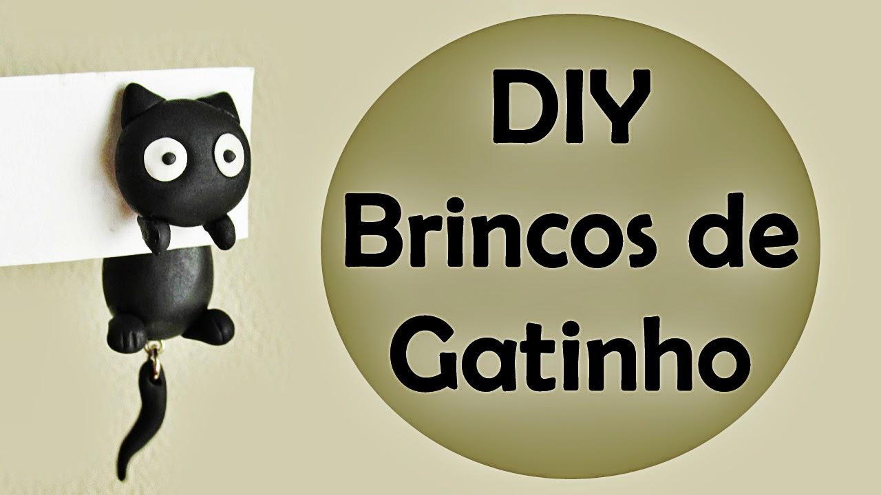 DIY: Como Fazer Brincos de Gatinho (Cat Earrings)