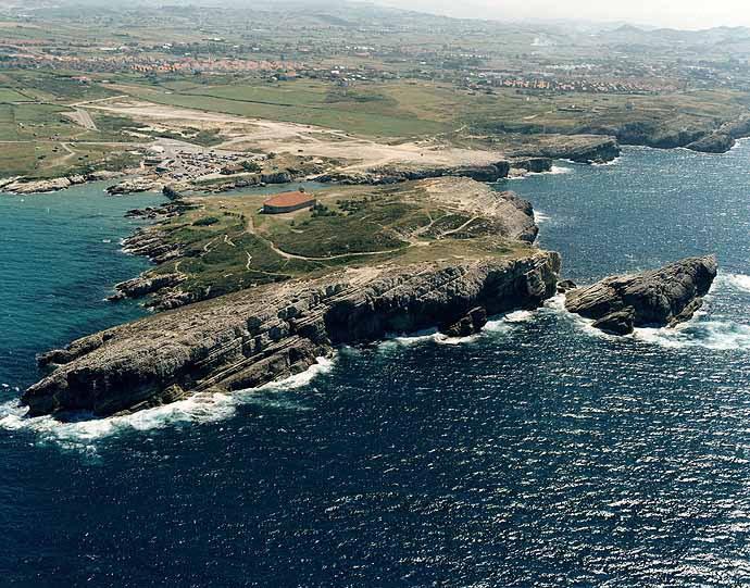 vista aérea de la virgen del mar