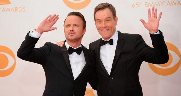 Bryan Cranston y Aaron Paul en los Emmy 2014