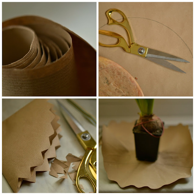 hiacynt | doniczka | diy | handmade | papier do pakowania