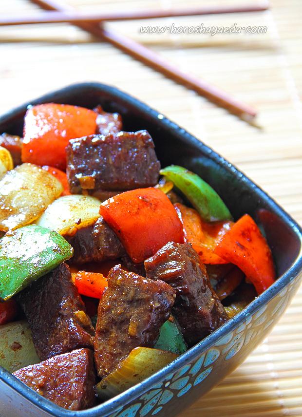 Говядина с чёрным перцем по-китайски