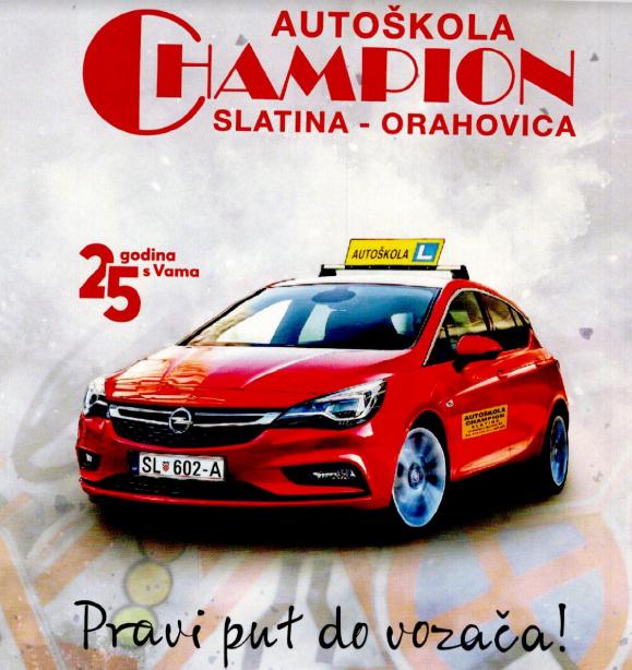 AUTOŠKOLA CHAMPION SLATINA-ORAHOVCA