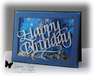 Quietfire Design, Happy Birthday, shaker card