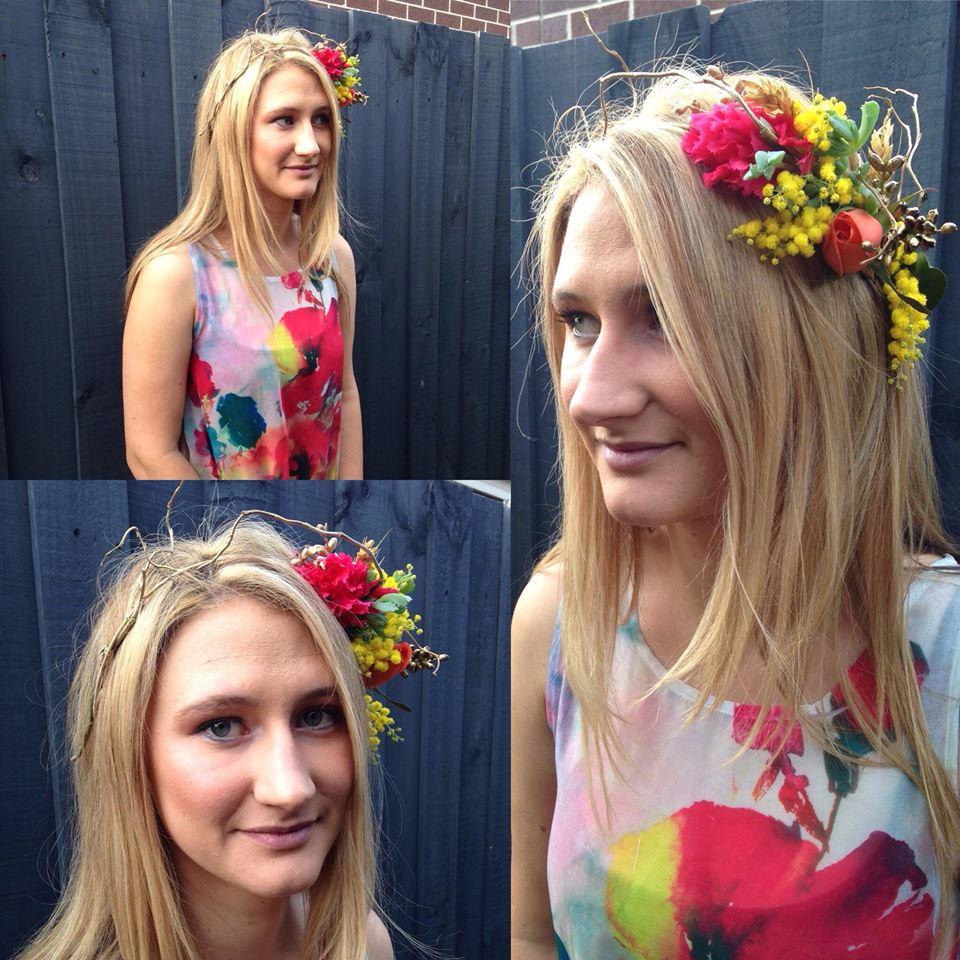 Naomi rose floral design flower crowns fresh floral flower crowns fresh floral fascinators and hair accessories izmirmasajfo Gallery