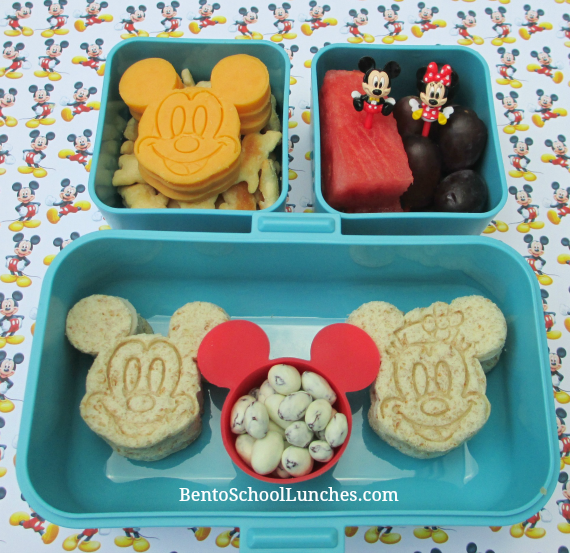 Disney Mickey and Minnie. Bento School Lunches