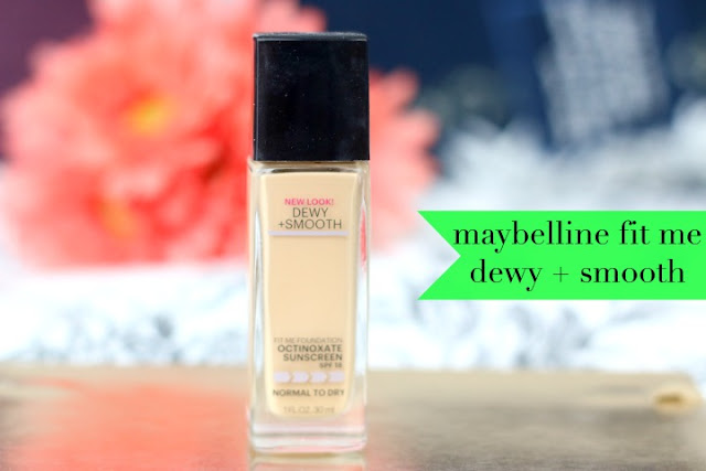 Maybelline Fit Me Dewy+Smooth foundation review