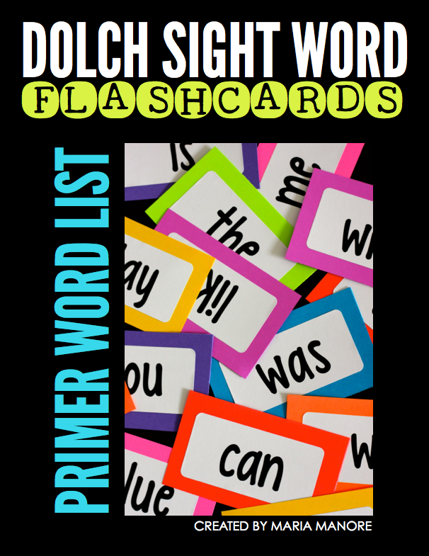FREE labels to make your own sight word flash cards!