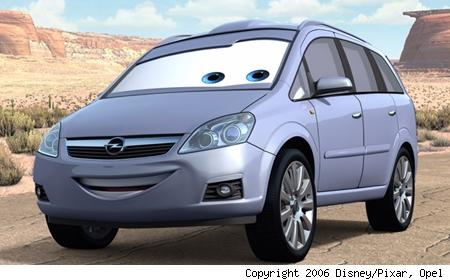 opel zafira pixar cars