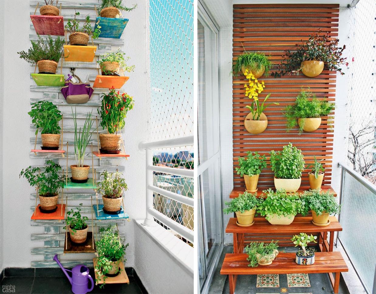Decoraci n f cil diariodeco10 aprovechando el espacio de los balcones - Decoracion de balcones con plantas ...