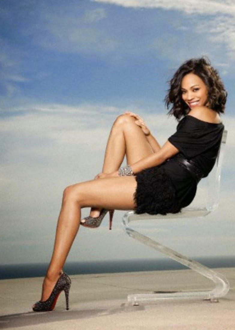 Zoe Saldana hot legs in high heels