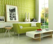 desain interior bernuansa hijau