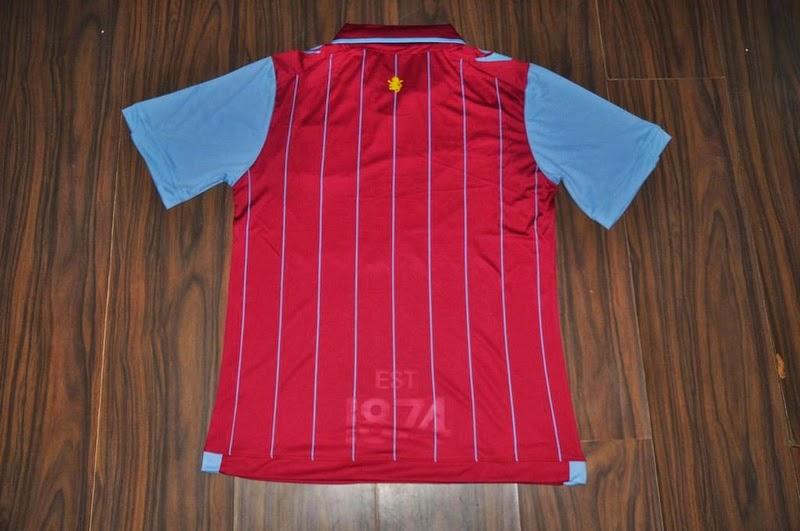 Aston Villa official match shirt home 2014 Macron jersey trikot maillot camiseta