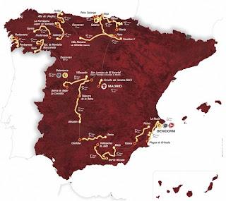 cartel vuelta Jornadas Ciclistas 28.y 29.Abril en Benidorm previas a la salida de la 66ª Vuelta Ciclista a España 2011