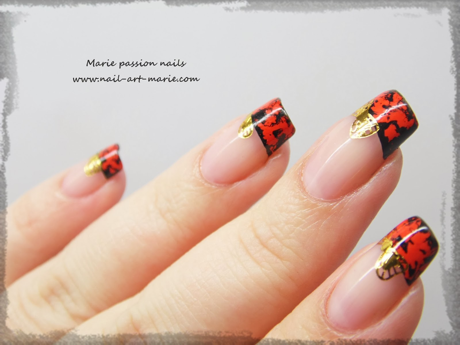 Nail Art avec craquelures de foils matte7