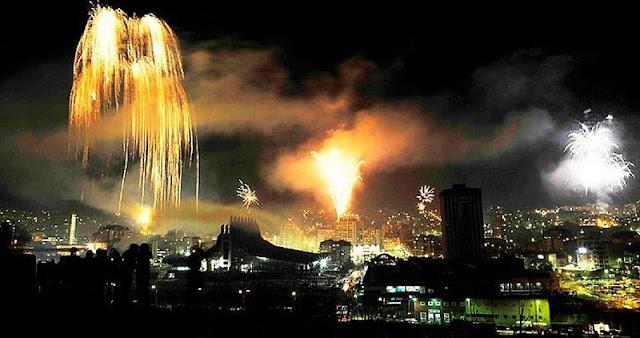 Fishekzjarre në Ditën e Shpalljes së Pavarësisë