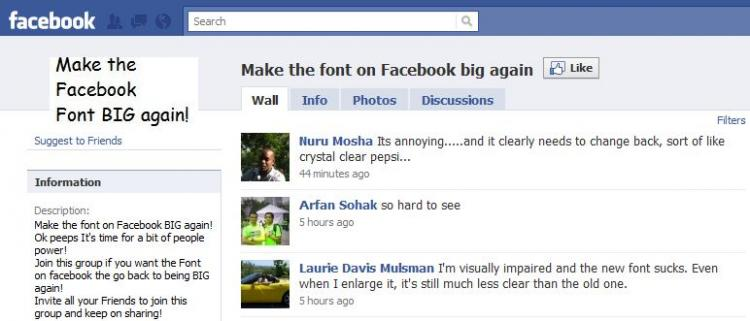 how to change font size on facebook post