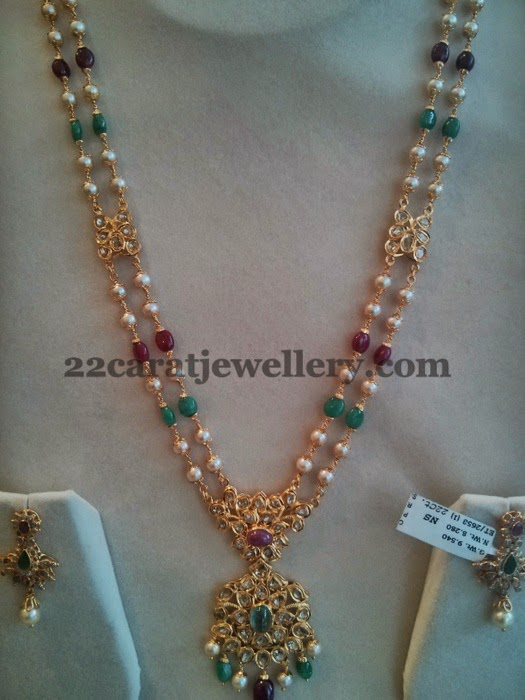 Pachi Set With Uncut Locket Jewellery Designs