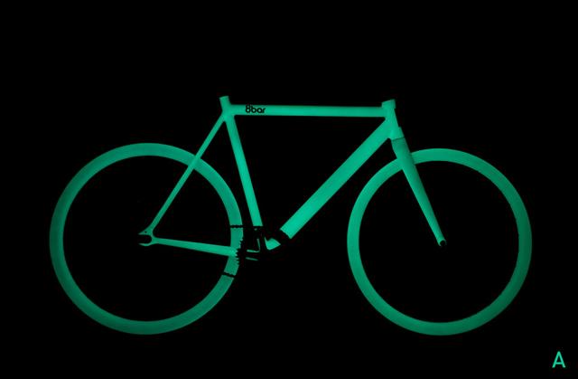Bicicleta brilha no escuro