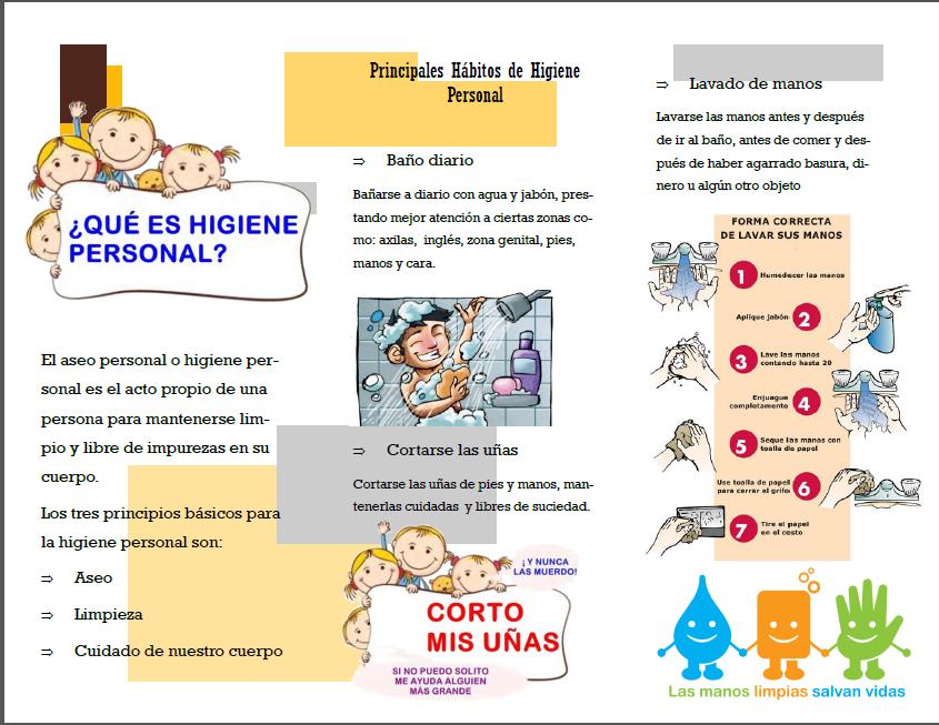 Habitos de higiene, folleto - Imagui