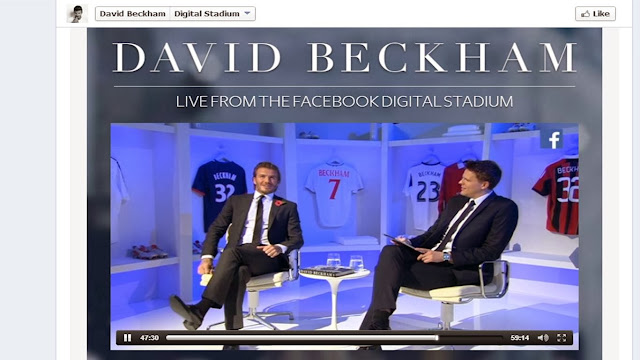 David Beckham book live Facebook book launch with Jake Humphrey